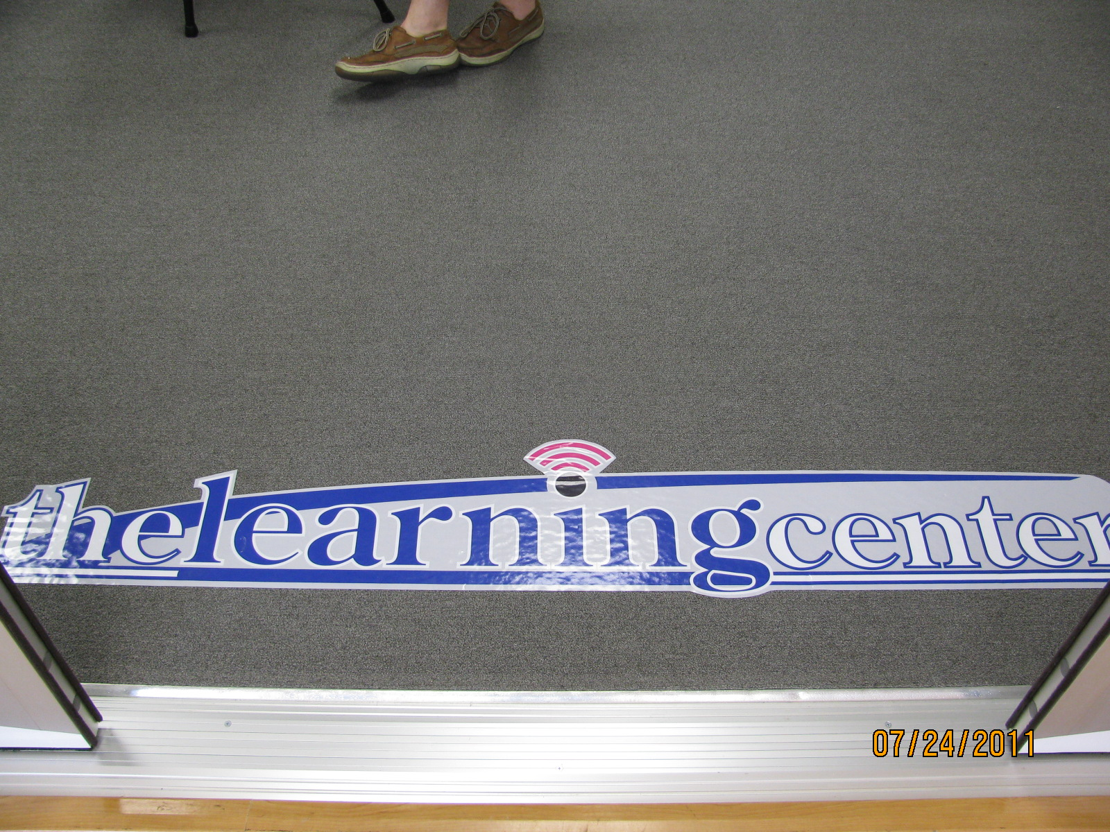 Learning Center Floor Decal