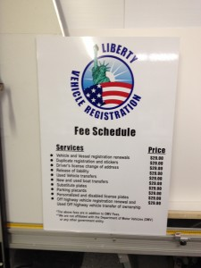 Liberty Price Sign