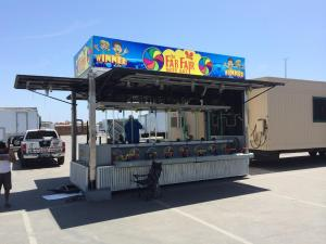 wrap vinyl on game trailer at county fairs