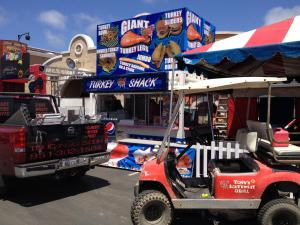 Food Trucks, Food Trailers vinyl wrapped Turkey shack trailer