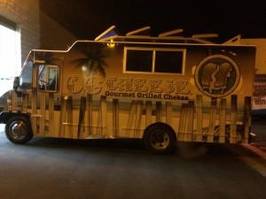 Installing vehicle wrap vinyl on Food Truck